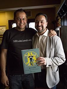 Jorge Ordovas con BitcoinComic y Alex Preukschat