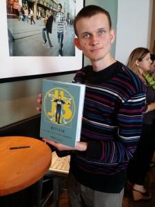 Vitalik Buterin with the Bitcoin Comic web